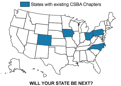 United States Map of CSBA Chapters